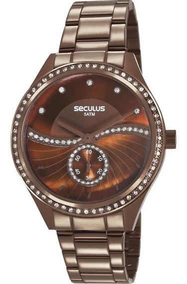 Relógio Seculus Feminino Marrom 20612lpsvms3