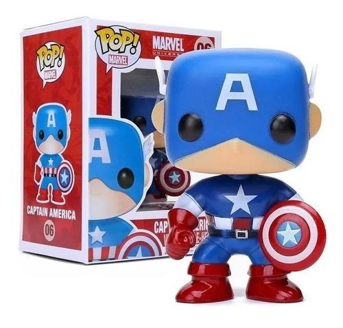 Funko Pop Marvel 06 Captain America - Jugueteria Boutique