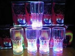 Vaso Con Luces Led Multicolores