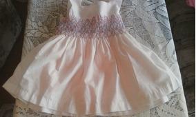 810137b41 Vestido Blanco De Fiesta Para Niña Talla 3 A 6 Meses