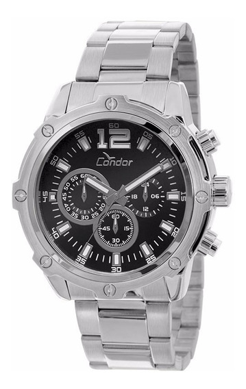 Relógio Condor Masculino Cronógrafo Covd54ad/3p Aço