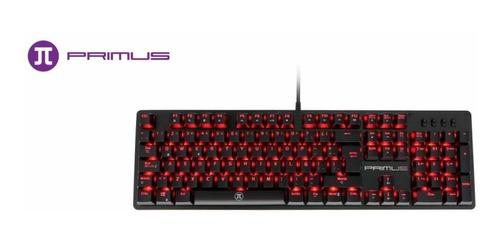 Teclado Primus Gaming, Usb, Con Iluminacion Roja (pks-101s)