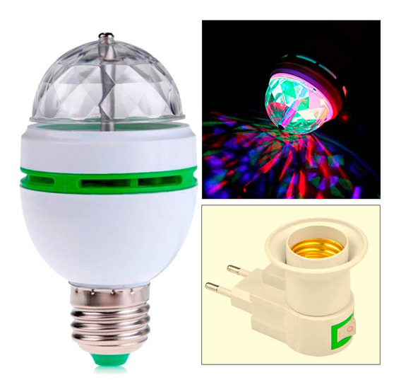 Disparador Leds Rotativo Colorido 3d Sensor De Som Dj Festa