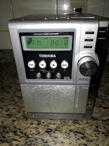 Micro System Hifi Toshiba Mc 663dw Fm E Auxiliar Ok Cd E Tape Não Funcionam Sem Caixas
