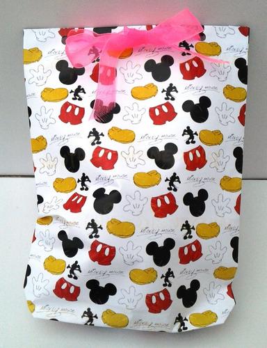 Imagen 1 de 5 de Bolsas Papel Sorpresitas Souvenirs Cumpleaños Diseño Mickey