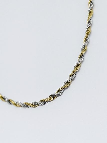 Conjunto Cordão Baiano 60 Cm + Pulseira Com Banho De Ouro