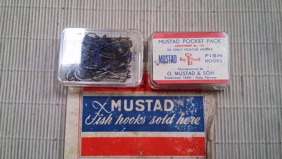 Caja Anzuelos Mustad X 50 Unidades Antiguos