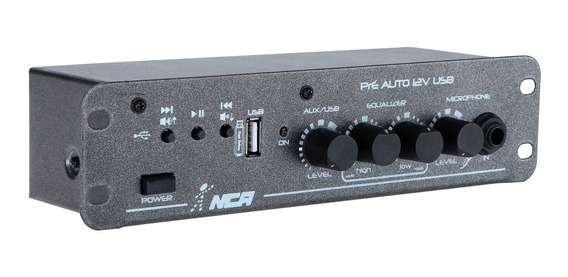 Pré Amplificador Automotivo Auto 12v Usb Nca