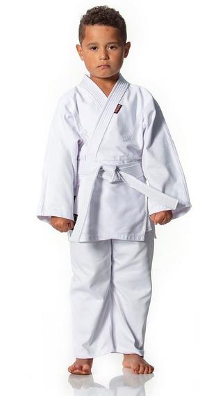Kimono Judo Jiu Jitsu Reforçado Infantil Branco/azul + Faixa