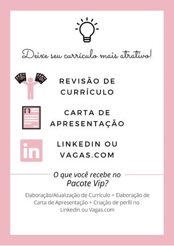 Revisão De Currículo + Carta  Apresentação + Perfil Linkedin