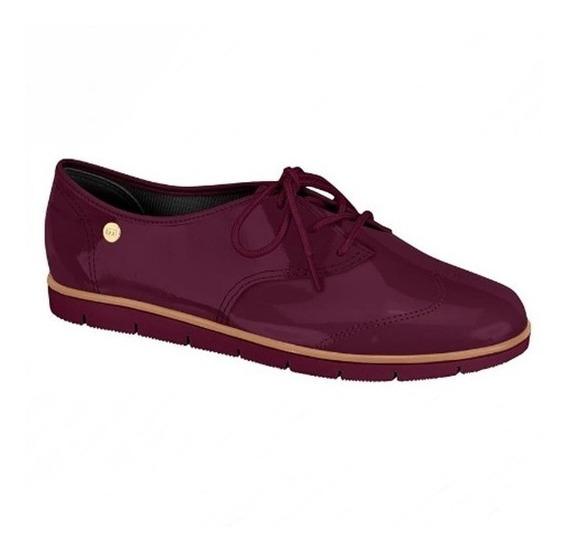 Sapato Feminino Moleca Oxford Em Verniz