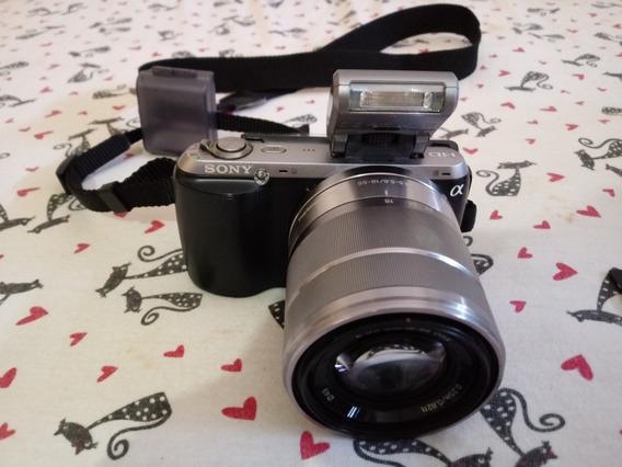 Câmera Semi-profissional Sony Nex C3 Com Bolsa + Cartão 32gb