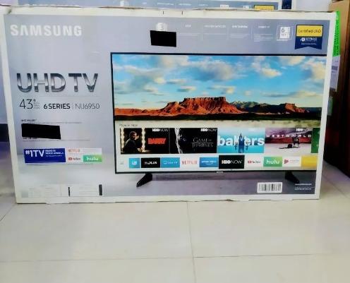 Televisor Samsung De 43 Pulg, Nuevo Smart Tv, 4k, Garantia