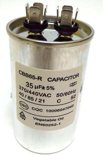 Imagen 1 de 1 de Capacitor Metalico Aire Acondicionado 35uf