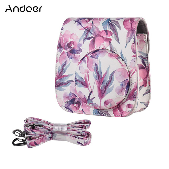 Andoer Pu Camera Case Bag Para Fujifilm Instax Mini 9/8 + /