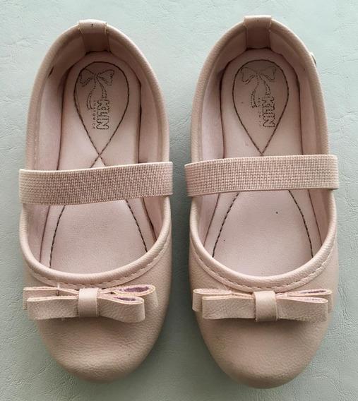 Ballerinas De Nena De Cuero Color Rosa Viejo Número 24