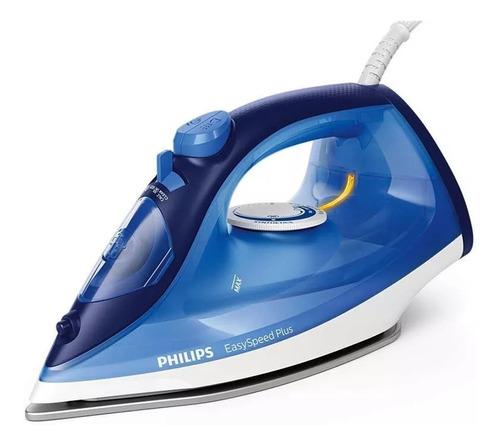 Plancha a vapor Philips GC2145 EasySpeed Plus  color azul con suela antiadherente 220V