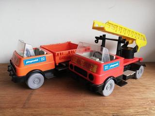 Juguete Antiguo Playmobil Carros Camiones Bombero Geobra