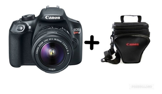 Câmera Eos Rebel T6 Dslr C/ 18-55mm + Bolsa