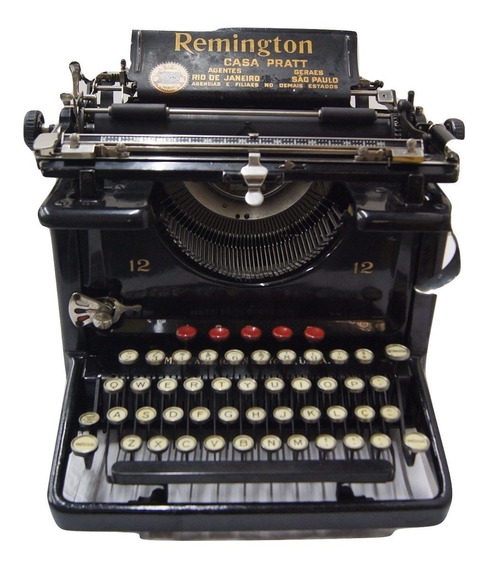 Antiga Máquina De Escrever Datilografia Remington