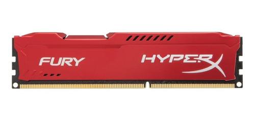 Imagen 1 de 2 de Memoria RAM Fury color Rojo  8GB 1 HyperX HX316C10FR/8