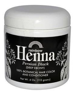 Henna Color De Cabello Y Acondicionador - Persa Negro 4 Onza