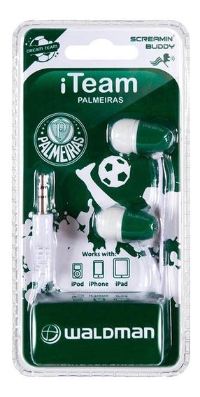 Fone De Ouvido P/ Celular Palmeiras Waldman Screamin Buddy