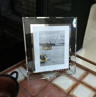 Portarretratos De Vidrio - 2 Piezas