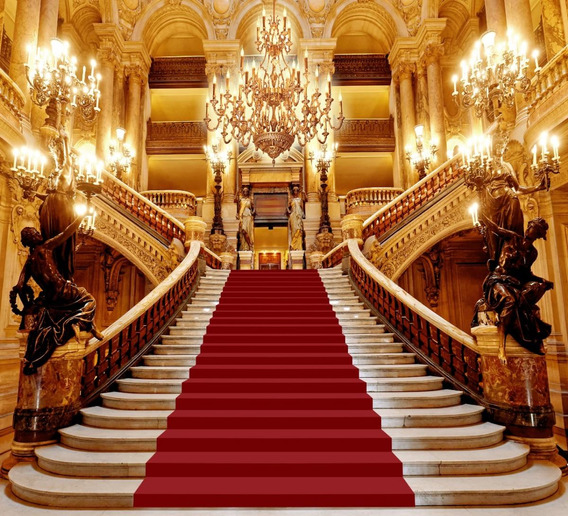 Fundo Fotográfico Tecido Escadaria Realeza 2,5x2m