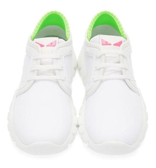 Tenis Sneaker Fendi Tessuto 28.5 Blanco Running