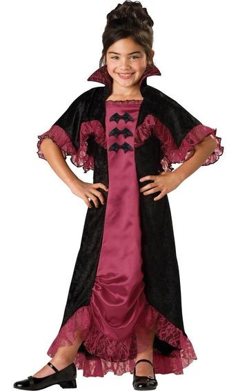 Disfraz Importado Para Niña Halloween Midnight Vampiress