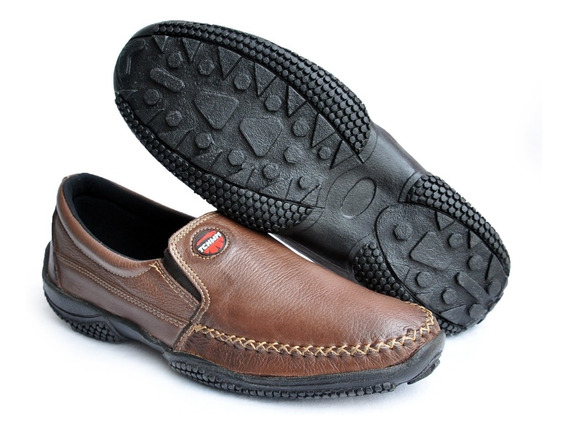 Sapato Mocassim Masculino Sapatilha Couro Tchwm Shoes Até 48