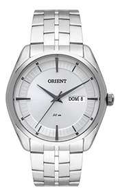Relógio Masculino Orient Pulseira Aço 50m Ref. Mbss2022-s1sx