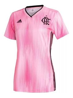Camisa Do Flamengo Feminina Rosa Oficial 2019 - Em Oferta