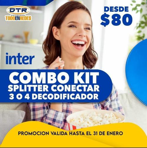 Kit Ínter Satelital Antena Suscripción Nuevo