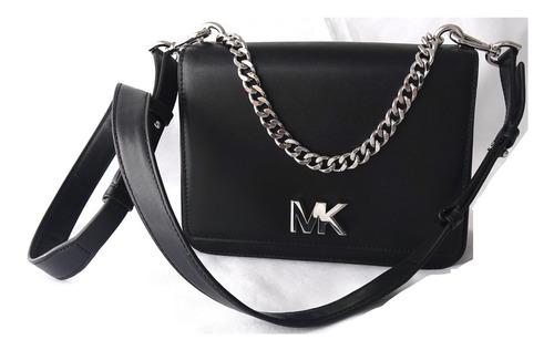 Cartera Michael Kors Cuero Modelo Mott Large Negra Nueva