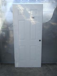 Puerta Tambor 6 Paneles 1 Vista Color Blanco Usada