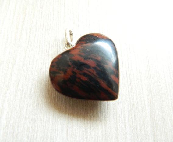 Pingente Pedra Obsidiana Mahogany Prata 950