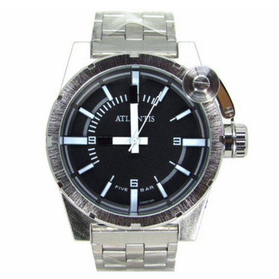Relógio Atlantis Masculino Prata. Original!