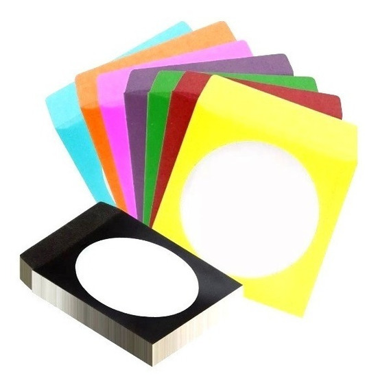 200 Envelopes Papel Para Cd / Dvd Com Visor Transparente