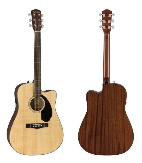 Guitarra Electroacustica Fender Cd-60sce Picea Maciza