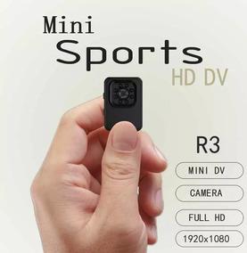 R3 Mini Câmera Hd 1080p Visão Noturna Filmadora Ação