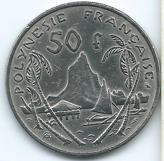 Moneda De La Polinesia Francesa 50 Francos 1967 Muy Buena