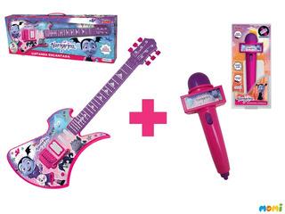 Combo Guitarra + Microfono De Vampirina Juguete Disney