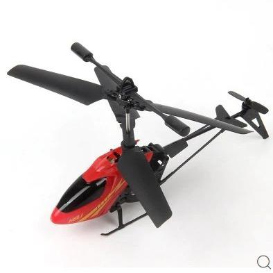 Mini Rc Helicóptero Shatter Resistente 2.5ch Vermelho