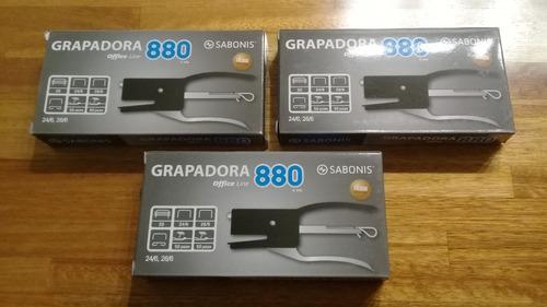 Pack Por 3 Engrampadora G 880 De Sabonis
