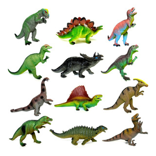 Dinosaurio Goma Mediano 20cm Dinos Clasicos Juguete Modelos