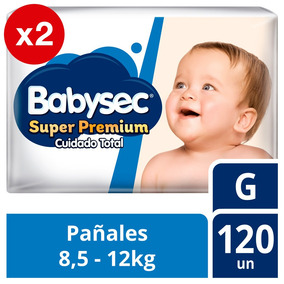 Pañal De Bebe Babysec Premium Pack X2 Talla G Tienda Oficial