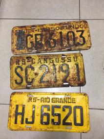 Placas De Carro Antiga Rs Pelotas Rio Grande Canguçu