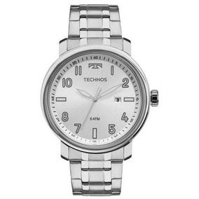 Relógio Technos Masculino 2115mnh/1k Social Prateado